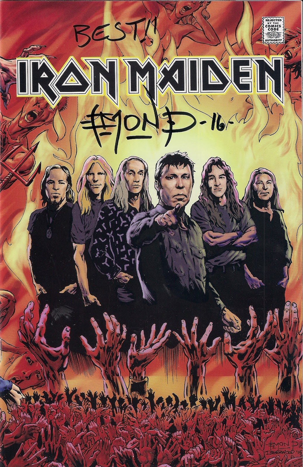 the sault metal scene iron maiden comic book review new videos as you remember local artist darren emond launched the iron maiden comic book that he did the pencil artwork for at the rad zone on saturday