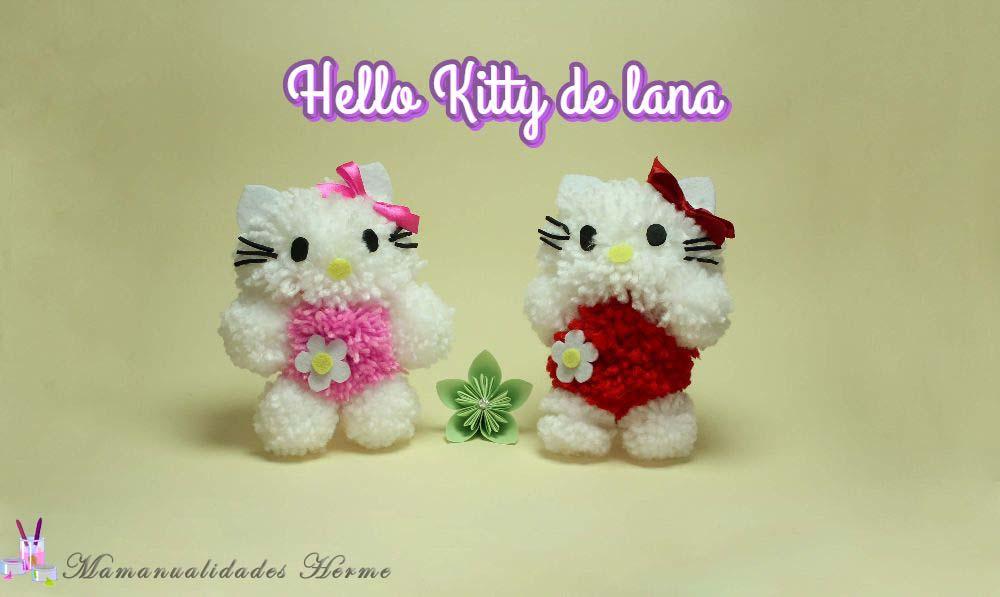 Manualidades herme como hacer una hello kitty de lana - Manualidades en lana ...