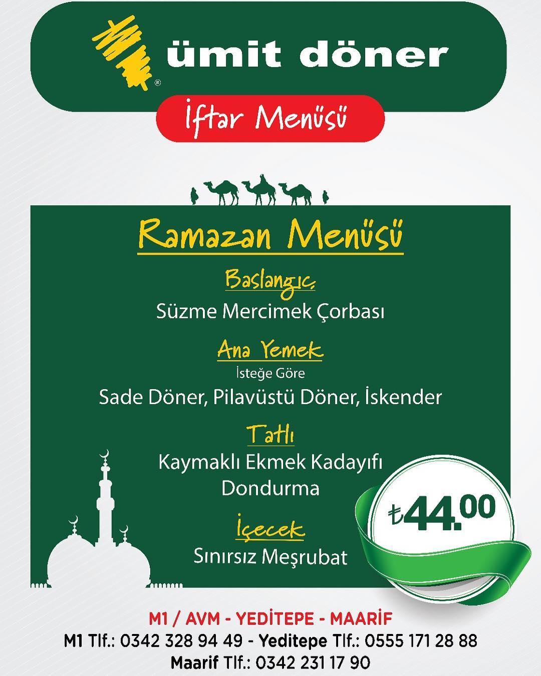 gaziantep ramazan menü fiyatları 2019 gaziantep ramazan menüleri gaziantep iftar mekanları