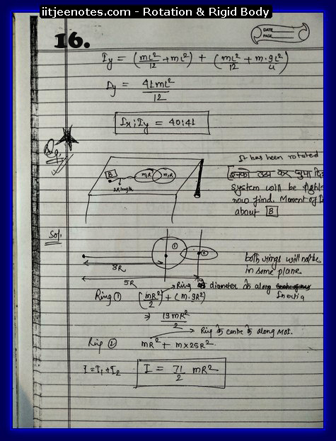Rotation and Rigid body Notes 6