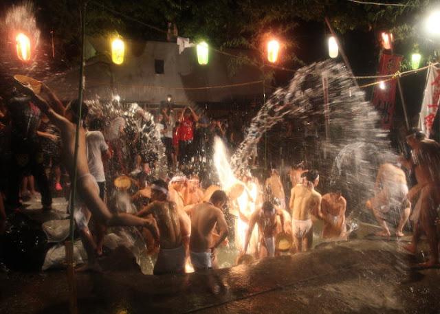 Shimokuro Komasekison Matsuri (naked festival), Fuefuki City, Yamanashi Pref.