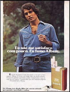 propaganda cigarros Albany - 1978. reclame cigarros anos 70; propaganda anos 70; história decada de 70; reclame anos 70; propaganda cigarros anos 70; Brazil in the 70s; Oswaldo Hernandez;