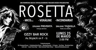 POS 1 Concierto de ROSETTA en Bogotá