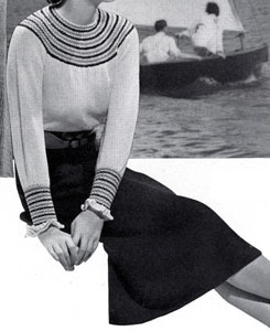 The Vintage Pattern Files: Free 1930's Knitting Pattern - Hamilton Smock St. Blouse