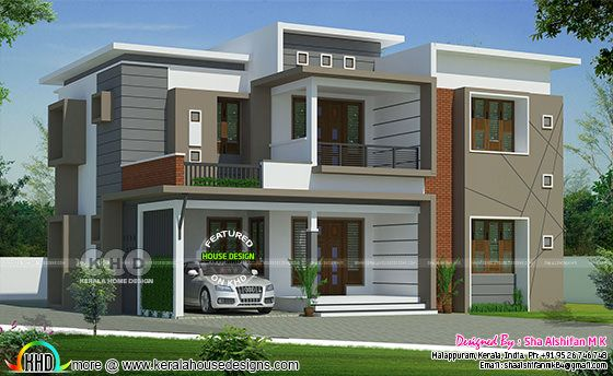 2728 square feet 4 bedroom modern home plan