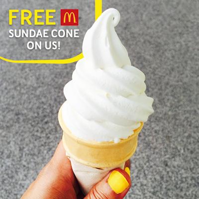 Digi Rewards Free McDonalds Sundae Cone Ice Cream