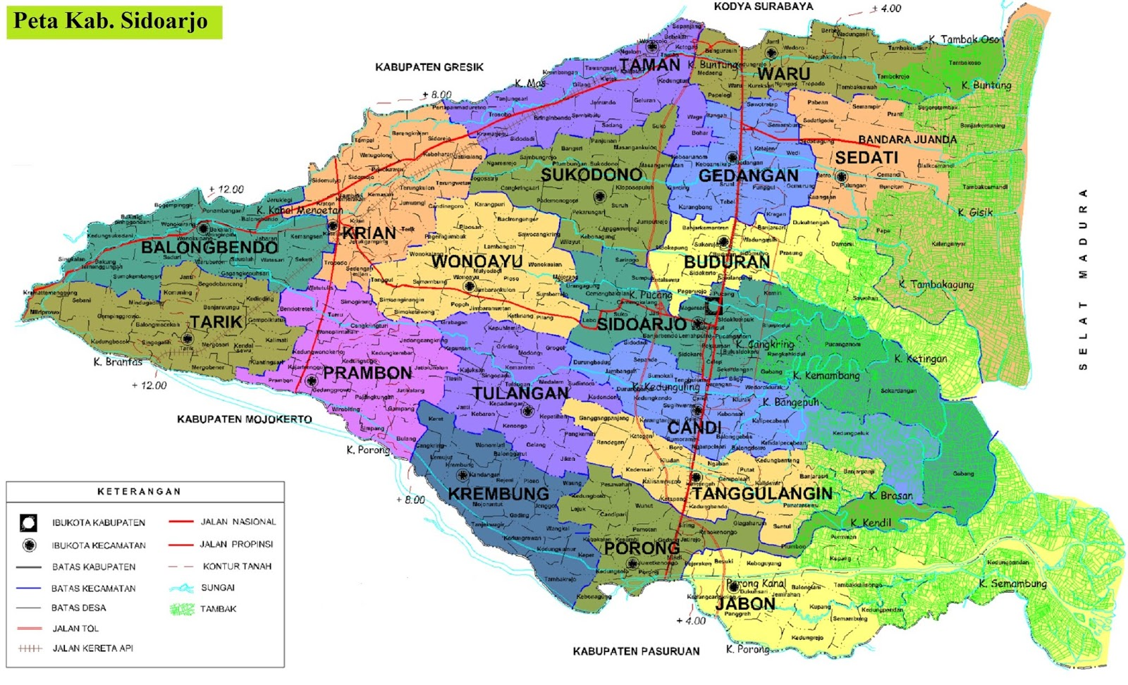 Peta Kabupaten Sidoarjo