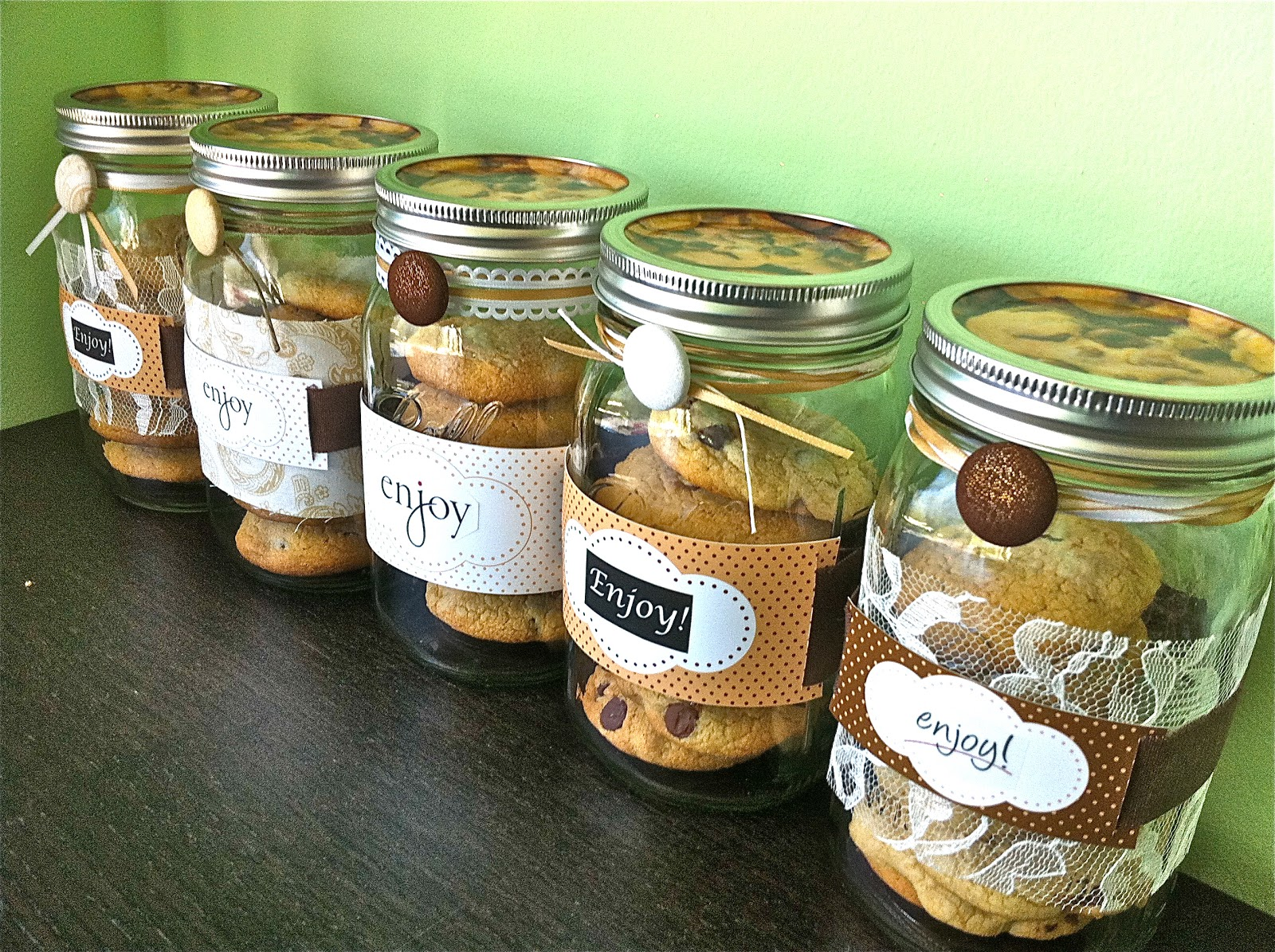 Homemade is Love: Decorated Mason Cookie Jars & Hand ...
