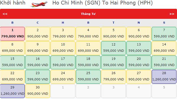 Vé máy bay giá rẻ đi Hải Phòng tháng 4