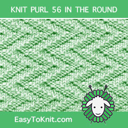 Zig Zag Knit Purl, easy to knit in the round