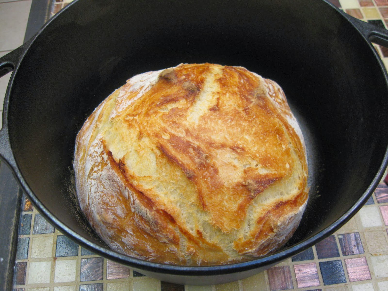 Taste And See God S Goodness Crusty Bread In A Cast Iron Pot