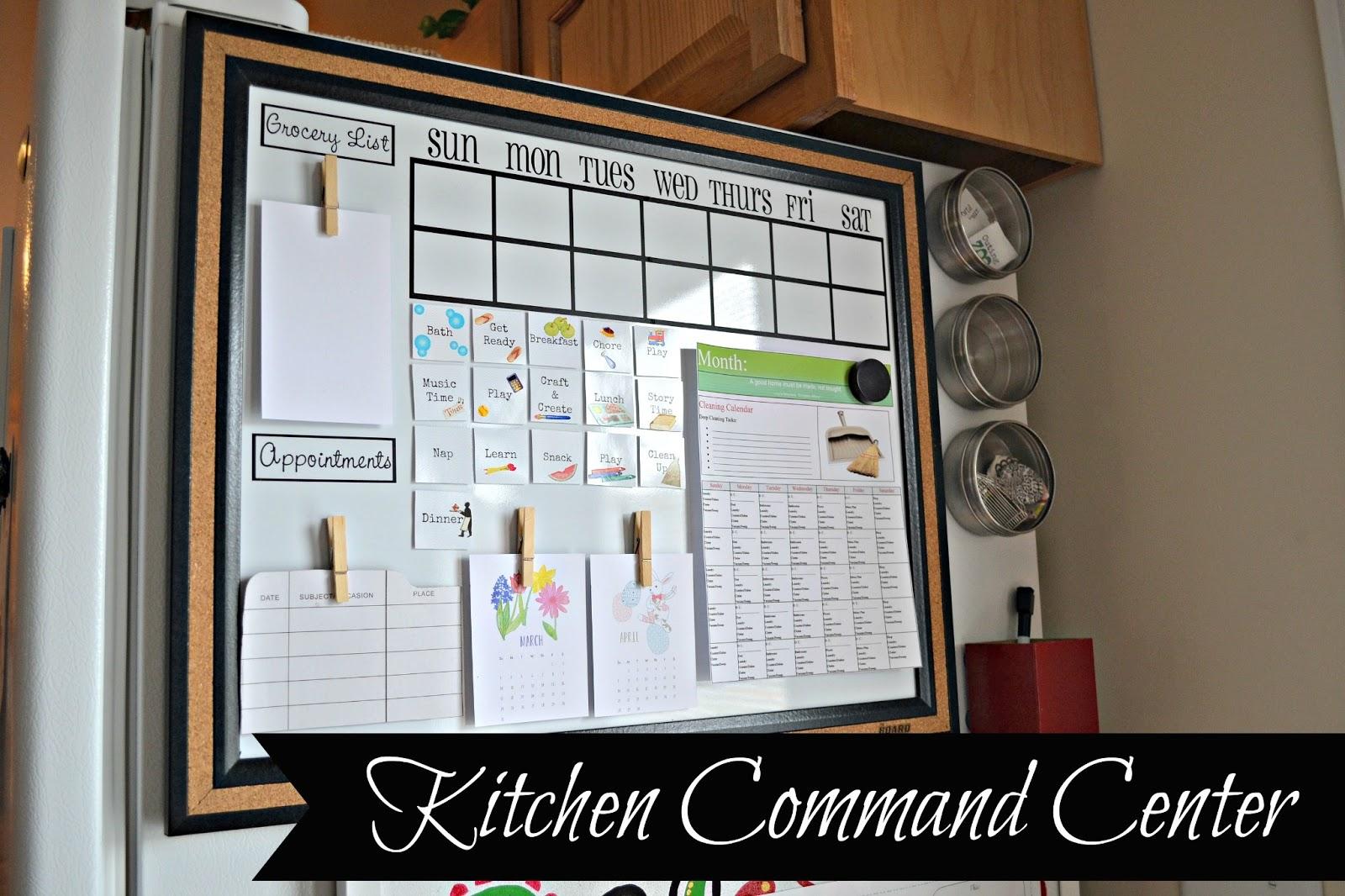The Life Of Jennifer Dawn Kitchen Command Center