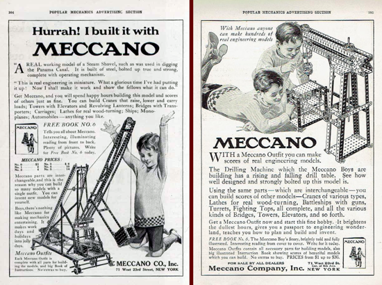Meccano advertisements 1914