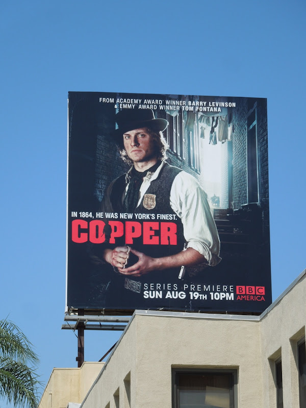 Copper BBC America billboard