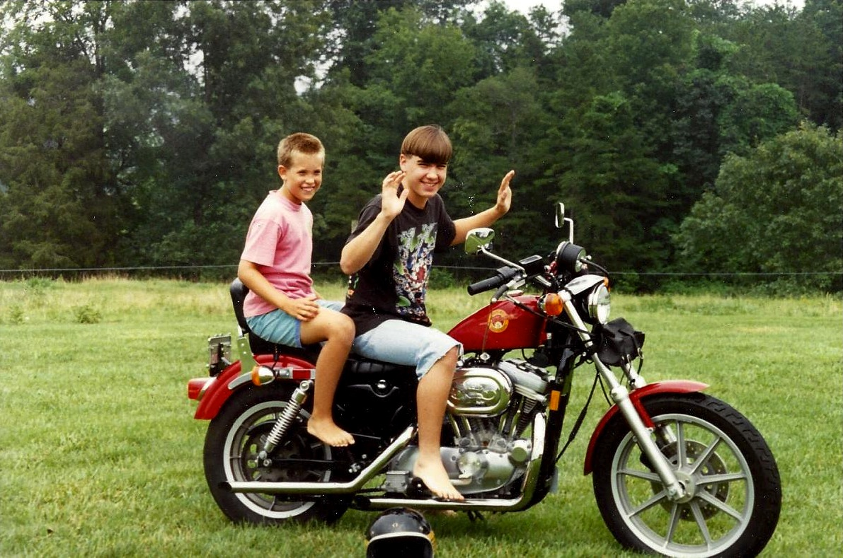 + i on uncle ross' (rip) beloved harley back in 93 - i now have his old  fulmer helmet seen in photo  simplified wiring diagrams for bsa 441 victor
