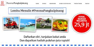 #PesonaPangkalPinang Lomba Menulis Terbaru (DL September 2016)