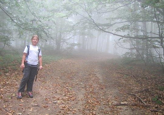 Na szlaku mgła i głucha cisza.