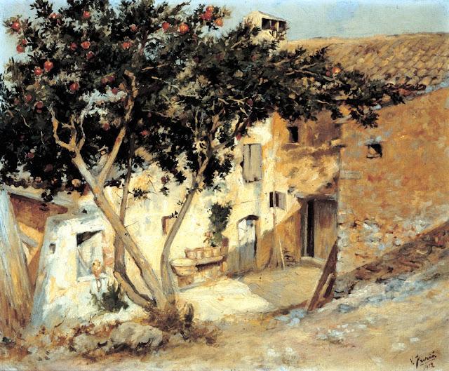 Vicens Furió Kobs, Mallorca en Pintura, Mallorca en Pintura, Mallorca pintada, Casa Payesa, Paisajes de Mallorca, Mallorca en Pintura