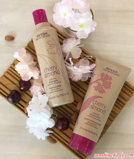 AVEDA Cherry Almond Collection, Touchably Soft & Shiny Hair, AVEDA Cherry Almond Softening Syampoo, AVEDA Cherry Almond Softening Conditioner, Aveda haircare, beauty