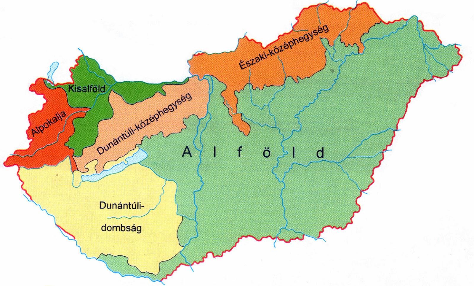magyarország nagytájai térkép Bergamott: Magyarország nagytájai magyarország nagytájai térkép