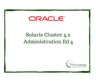 Oracle Solaris Cluster 4.x Administration Ed 4 Training in Hyderabad India