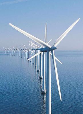 Parque de energia eólica da Siemens no Mar do Norte.  E se o vento não soprar?
