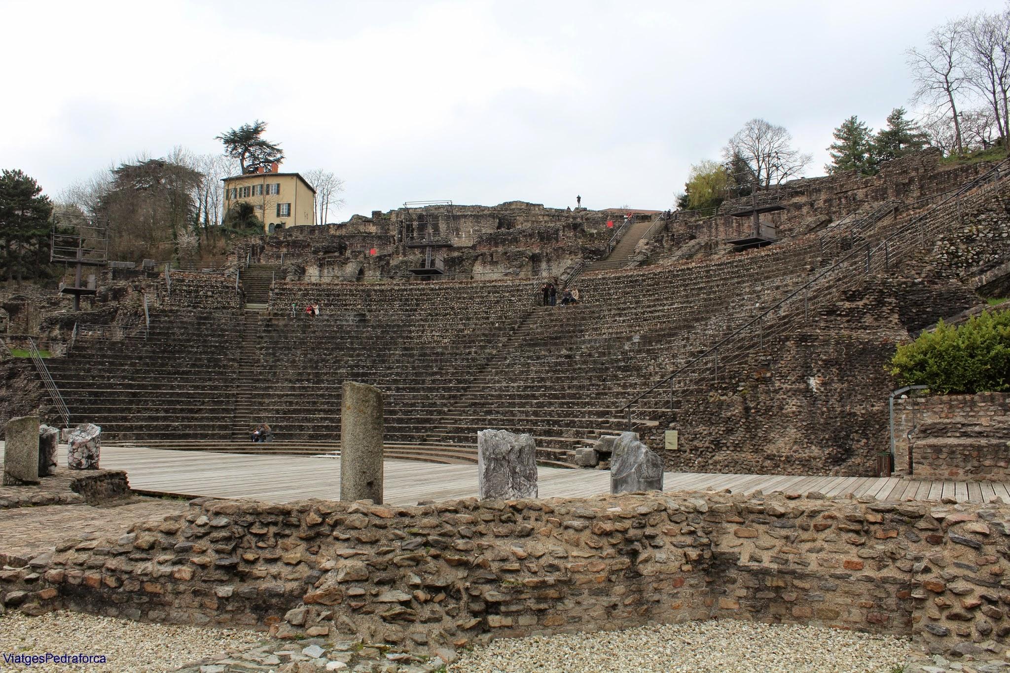 Lyon, Fourvière, Teatre romà, Lió, Rône-Alpes, França, France