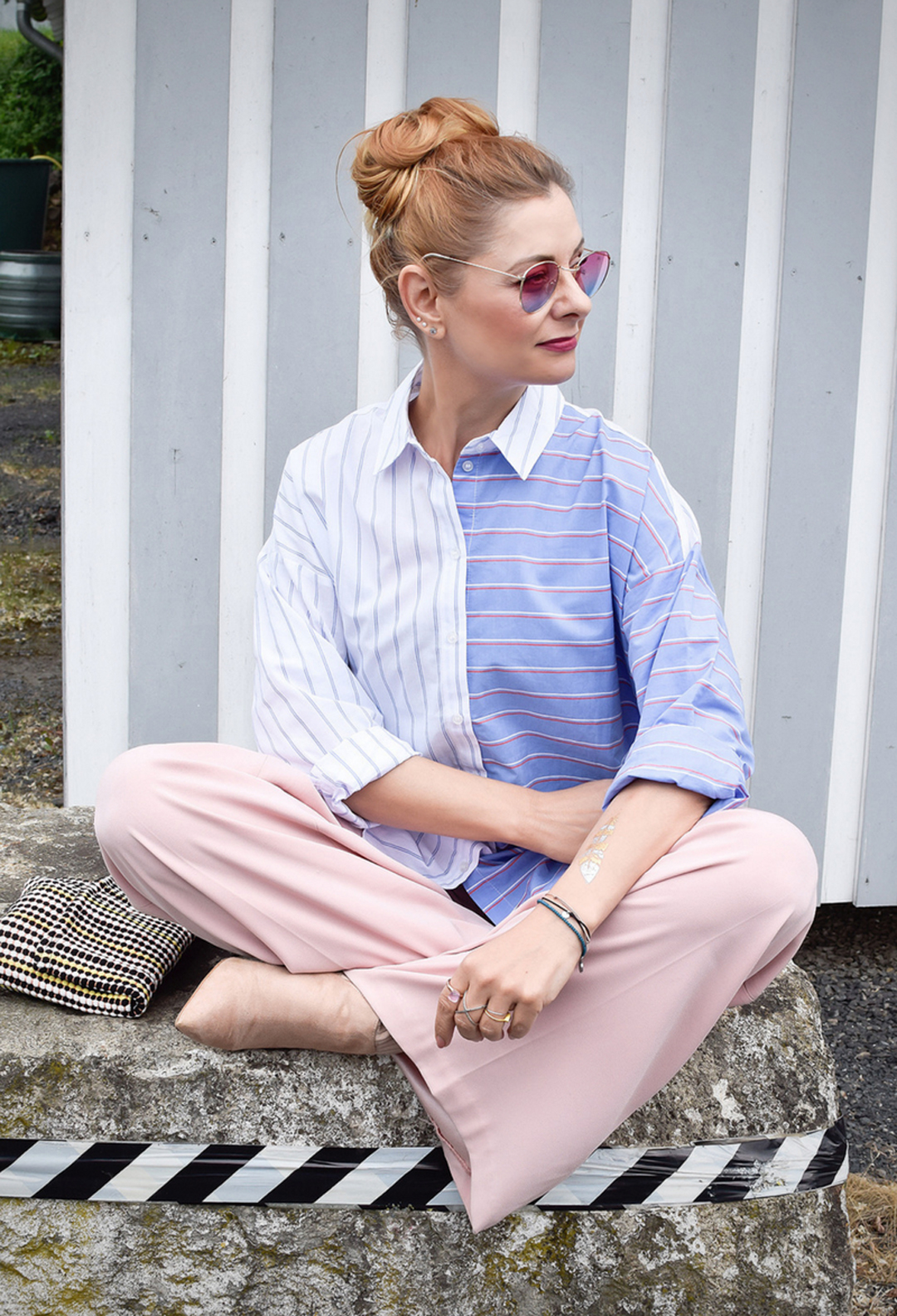 rosa Palazzohose, Marlene Hose in Rosa, Modeblog für Frauen über 40