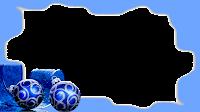 16x9 irregular-frame-blue B + bolinhas 3 xmas png
