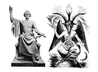 Imagens com referencias ao deus pagão maçom