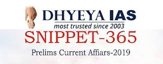 Dhyeya IAS Yearly Current Affairs for UPSC Prelims 2019