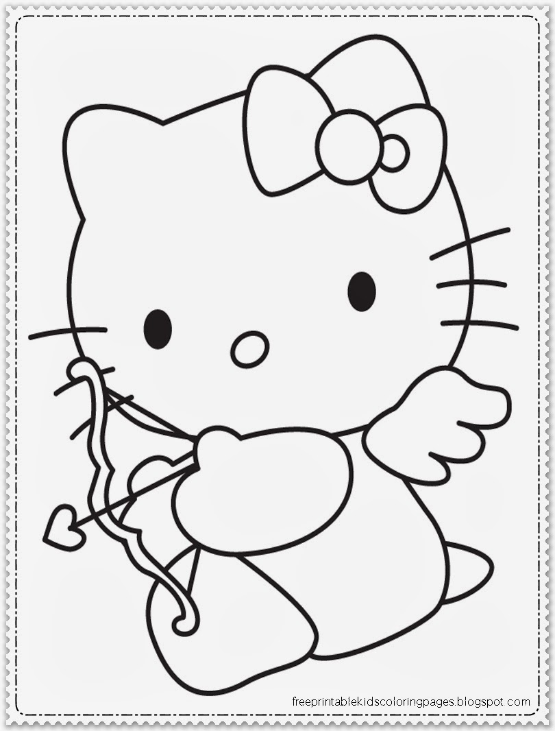 valentine coloring pages hello kitty