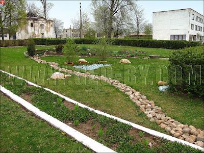 Кухтичи, Первомайск. Палисадник. Каменные черепахи