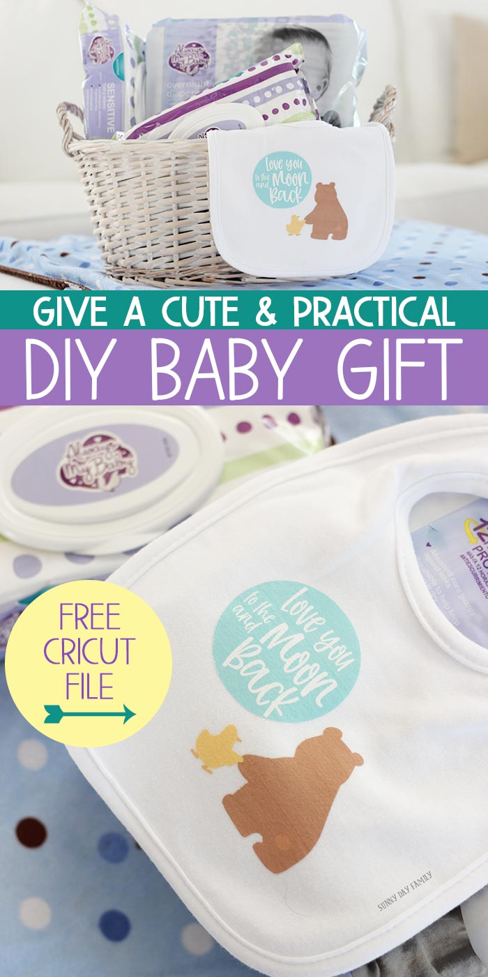 Make a DIY baby gift mom will love! This is a super cute and practical idea for new moms, DIY baby shower gift, baby's first Christmas, or any baby gift occasion. Make a DIY baby bib or DIY baby onesie with your Cricut and a FREE image file. #ad #FLAlwaysMyBaby #babygift #babyshower #cricut #cricutideas #baby