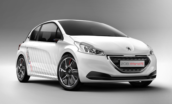 Peugeot 208 Hybrid FE front view