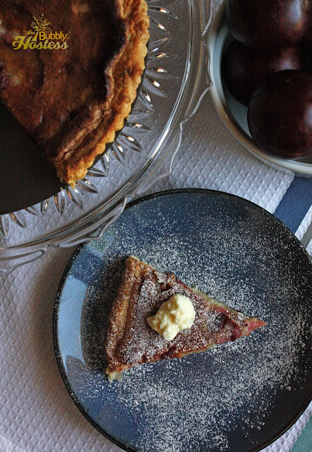 The Bubbly Hostess: Brown Butter Plum Tart with Vanilla Mascarpone Cheese