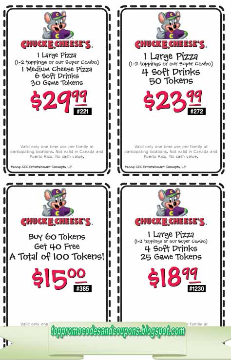 picture regarding Chuck E Cheese Coupon Printable identified as No cost Promo Codes and Coupon codes 2019: Chuck E Cheese Coupon codes