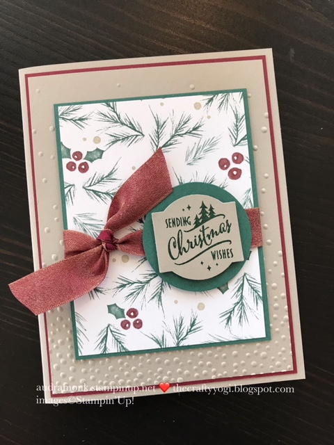 The crafty yogi ics blog hop passion for punches christmas cards my number one favorite punch is the in the christmas traditions punch box this is such a cool kit stamps ink and a super cute punch m4hsunfo