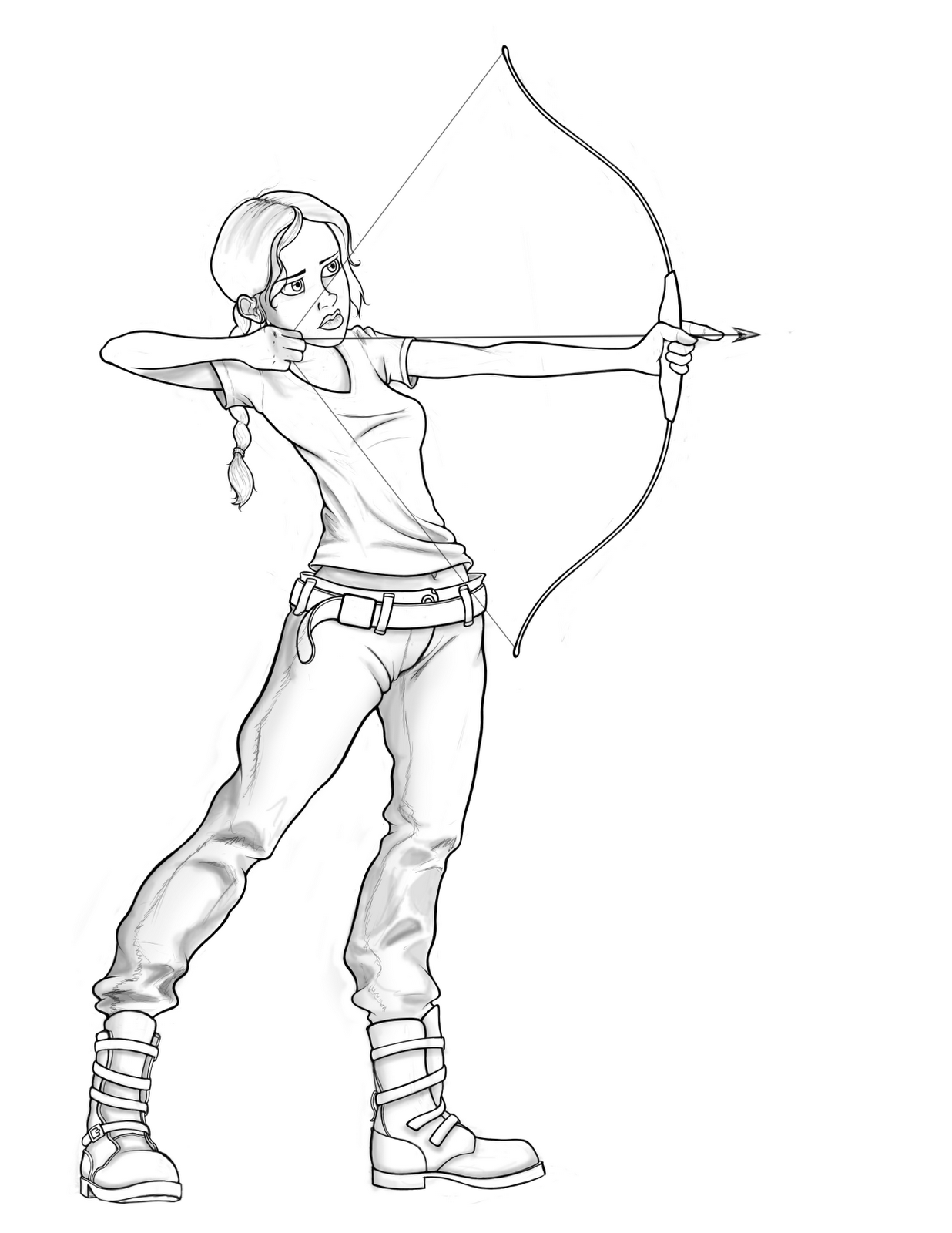 Katniss Everdeen Full Body Coloring Pages
