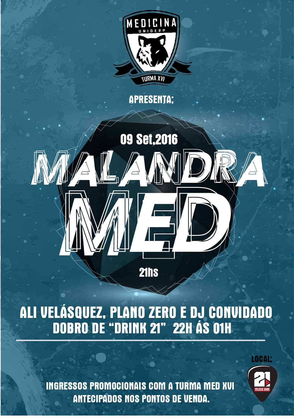 Well-known FLYER PARA FESTA DA MEDICINA UNIDERP - Like Marketing Digital QM15