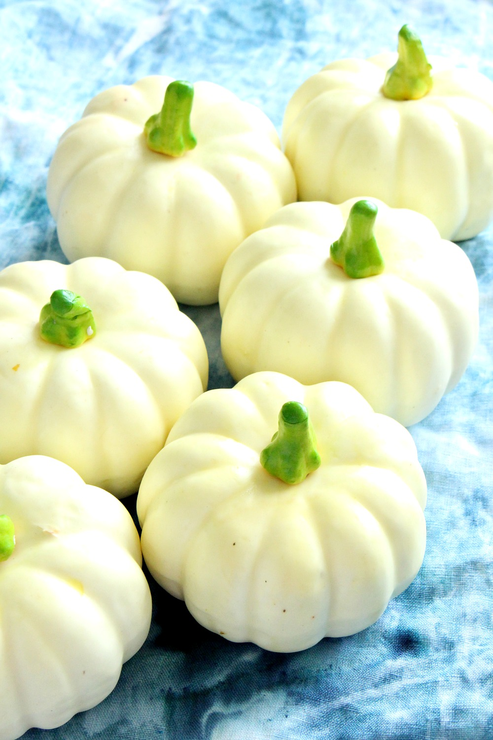 Cute Faux Mini Pumpkins in White