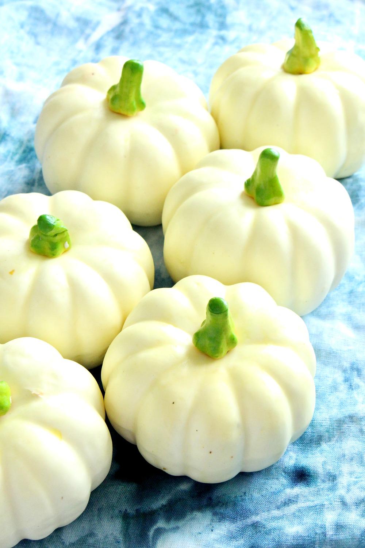 Cute Faux Mini Pumpkins in White