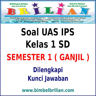 Soal UAS IPS Kelas 1 SD Semester 1 ( Ganjil ) dan Kunci Jawaban