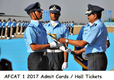 AFCAT 1 2017 Admit Cards / Hall Tickets Download