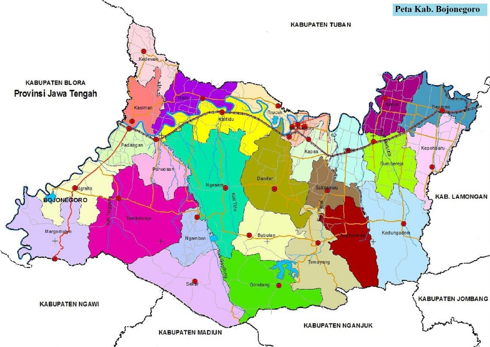 Peta Kabupaten Bojonegoro