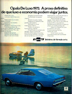 propaganda Opala de Luxo 73 - 1972; 1972; brazilian advertising cars in the 70s; os anos 70; história da década de 70; Brazil in the 70s; propaganda carros anos 70; Oswaldo Hernandez;