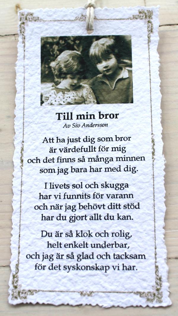 grattis på födelsedagen bror dikt Annas idéer bloggbutik: Diktkort! grattis på födelsedagen bror dikt
