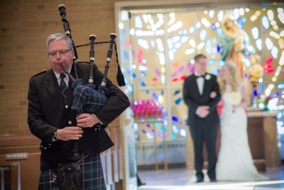 bagpiper at wedding