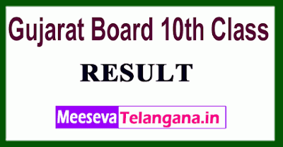 Gujarat Board 10th Class Result