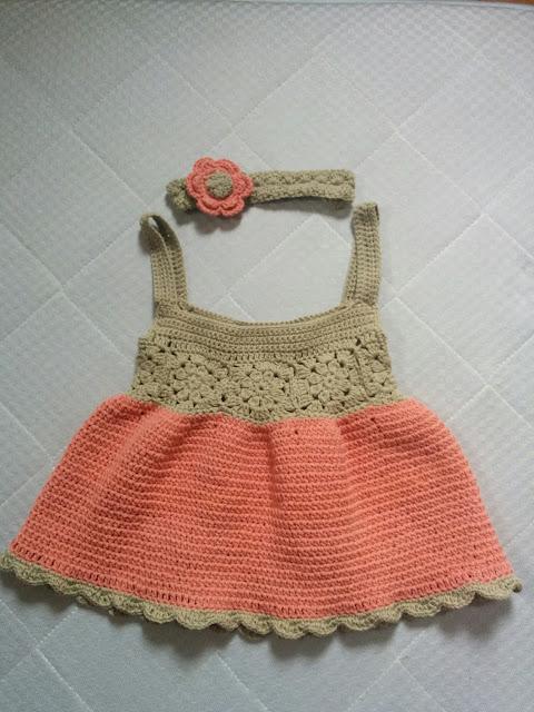 モチーフつなぎのサマードレス
